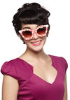 Rose-Colored Sunglasses - Pink, Multi, Solid, Flower, Trim, Pinup, Vintage Inspired, Summer