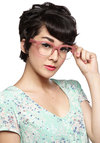 Miss Manager Glasses - Pink, Solid, Rockabilly, Vintage Inspired, 50s, 60s