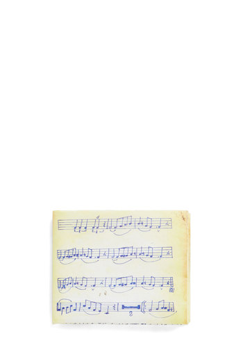 Major Spending Wallet - Yellow, Blue, Novelty Print, Eco-Friendly, Music