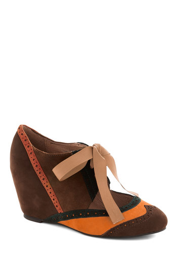 Viceroy, Oh Boy Wedge by Jeffrey Campbell - Brown, Multi, Solid, Colorblocking, Wedge, Mid, Leather, Best, Yellow, Green, Tan / Cream, Coral, Suede