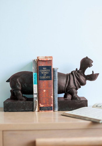 Waddle it Be? Bookends - Grey, Solid, Print with Animals, Dorm Decor, Best