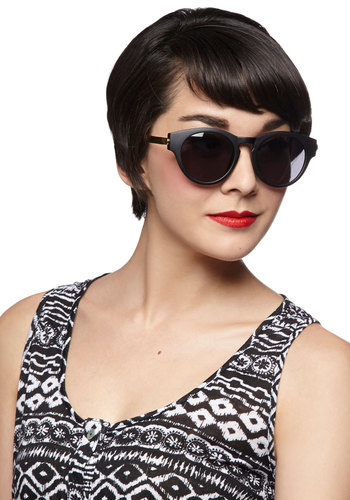 Take a Glint Sunglasses - Black, Gold, Solid, Beach/Resort, Summer