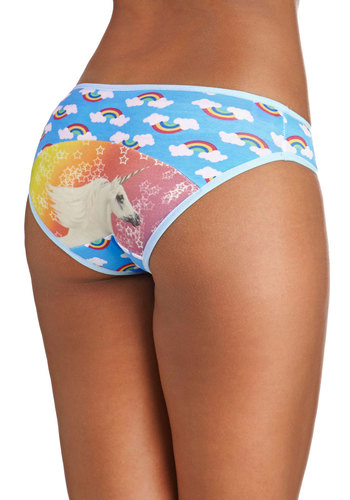 Loving the Dream Undies - Blue, Multi, Print with Animals, Kawaii, Quirky, Novelty Print
