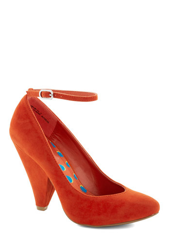 Unleash the Chic Heel in Poppy - Orange, Solid, Party, Cocktail, Girls Night Out, High, Platform, Red, Minimal, Variation