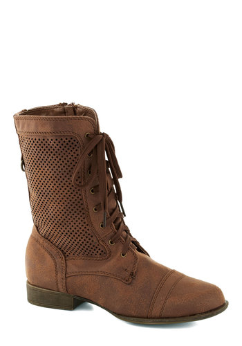 World Rambler Boot - Solid, Lace Up, Low, Brown, Casual, Rustic, Steampunk, Faux Leather, Fall