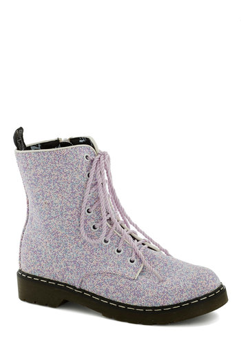 Unparalleled Nonpareils Boot - Purple, Multi, Print, Low, Blue, Pink, Black, Casual, Vintage Inspired, Pastel