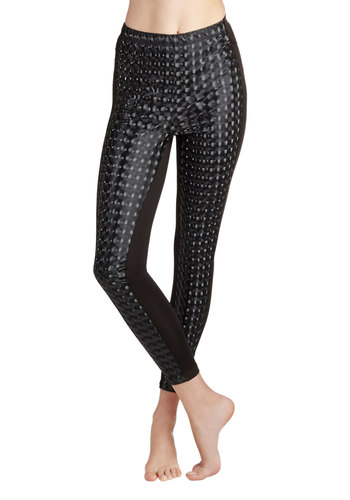 Hologram It Leggings - Black, Party, Vintage Inspired, 80s, Urban, Skinny, Fall