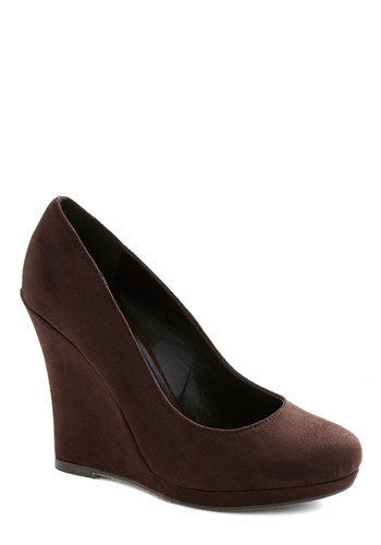Cacao or Never Wedge - Brown, Solid, Work, High, Good, Platform, Wedge, Minimal, Basic