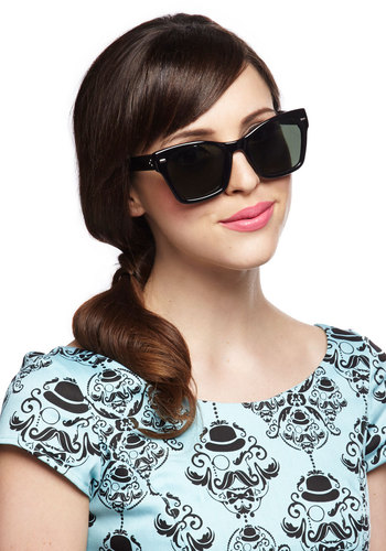 Quite the Looker Sunglasses in Black - Black, Urban, International Designer, Solid, Beach/Resort, Summer