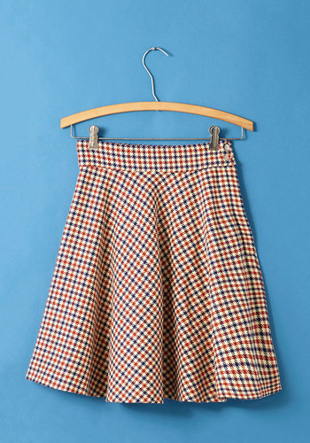 Vintage There in a Flashcard Skirt