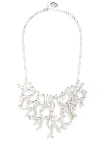 Alternate Roots Necklace - Silver, Solid, Variation