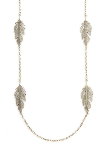 Fair as Feathers Necklace - Gold, Solid, Fall, Boho, Silver
