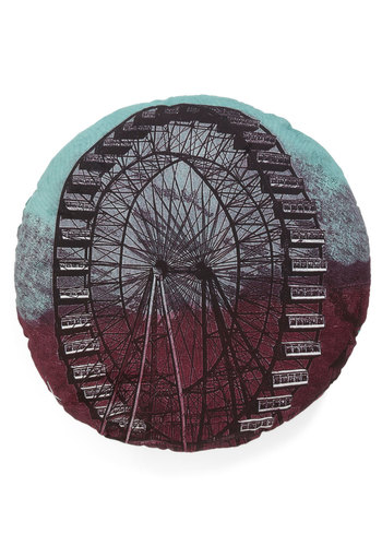 Spin For the Night Pillow - Multi, Cotton, Blue, Black, Dorm Decor, Woven, Exclusives, Better, Press Placement
