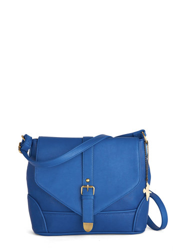You're So Bright Bag - Blue, Bronze, Solid, Faux Leather, Work