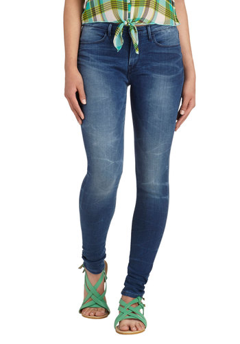 Casual Friday and Night Jeans by Levi's - Denim, Blue, Solid, Pockets, Casual, Skinny, Fall