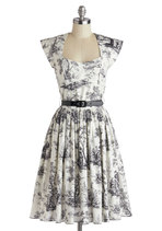 Eiffel Power Dress in Toile