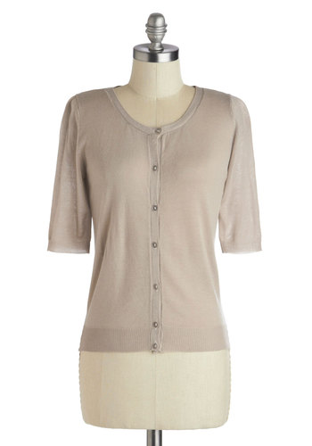 Up in the Airport Cardigan - Short, Tan, Solid, Buttons, Work, Casual, Short Sleeves, Basic, Brown, Short Sleeve
