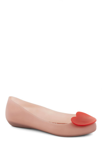 Follow Your Art Flat by Mel Shoes - Pink, Red, Solid, Flat, International Designer, Good, Casual, Valentine's