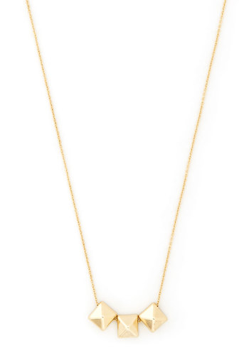 Shape Your Style Necklace in Pyramids - Gold, Solid, Minimal, Variation, Gold