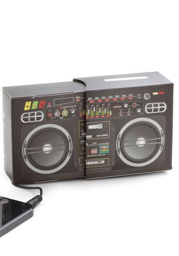Play Anything Portable Speaker by Kikkerland - Multi, Music, Black, Travel, Good