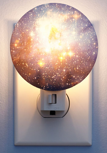 Galaxy You Later Night Light in Cosmos by Kikkerland - Multi, Good, Cosmic, Blue, Best Seller, Best Seller, Cosmic Gifts, Under 50 Gifts, Under 25 Gifts