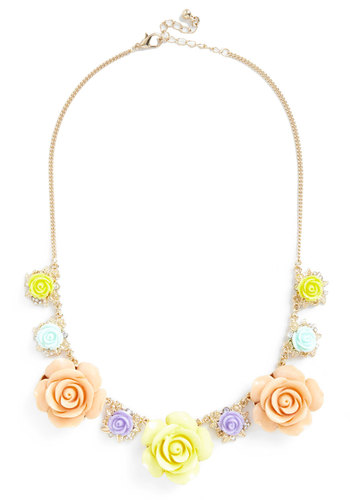 Display of Sunshine Necklace - Yellow, Multi, Gold, Solid, Flower, Fairytale, Daytime Party