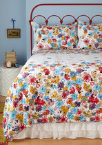 Serenity in Bloom Quilt Set in Full/Queen