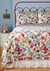 Serenity in Bloom Quilt Set in Full/Queen - Cotton, Multi, Floral, White, Dorm Decor, Best, Woven