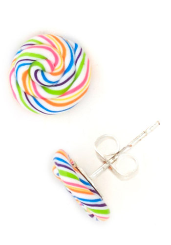 Tiny Taste Earrings in Candy - Multi, Stripes, Quirky, Variation
