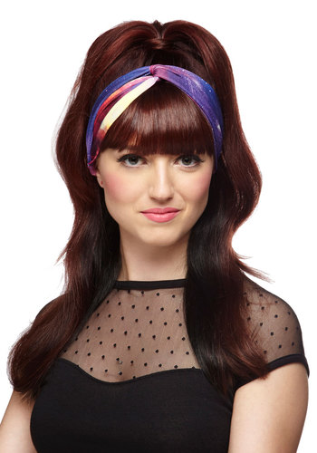 Just a Cosmic Gal Headband - Multi, Print, Better, Purple, Pink