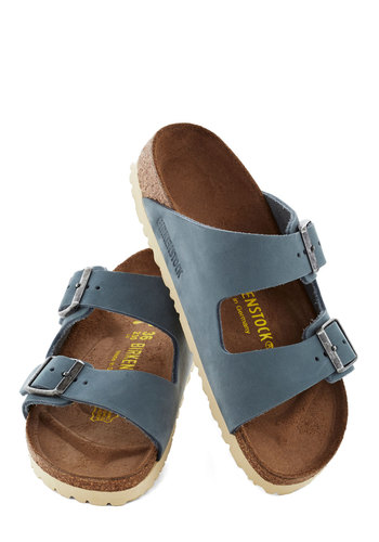 Strappy Camper Sandal in Blue by Birkenstock - Blue, Buckles, Summer, Flat, Casual, Best, Solid, Beach/Resort, Boho, Leather