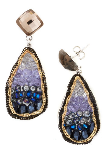 O.M.Geode Earrings in Lake - Blue, Multi, Ombre, Luxe, Variation, Work, Statement