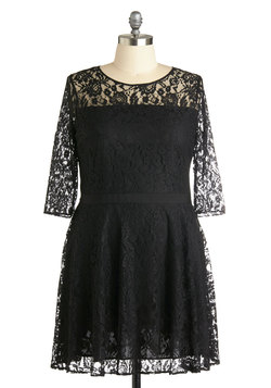 Make a Case for Lace Dress in Plus Size