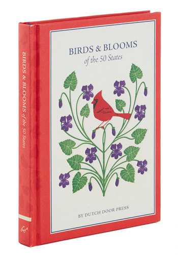 Birds and Blooms of the 50 States by Chronicle Books - Red, Print with Animals, Scholastic/Collegiate, Good, Summer, Americana