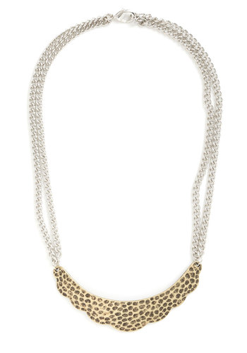 Perfect Impressions Necklace - Gold, Solid, Good, Chain, Silver, Gold