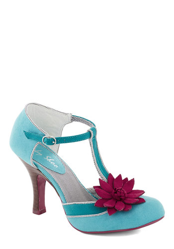 Foxy Trot Heel - Mint, Flower, Daytime Party, High, Better, International Designer, Pink, T-Strap