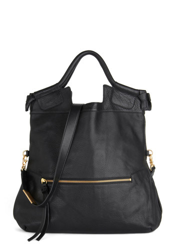 Chelsea and Be Seen Bag by Foley+Corinna - Black, Solid, Minimal, Leather, Best, Basic, Exposed zipper
