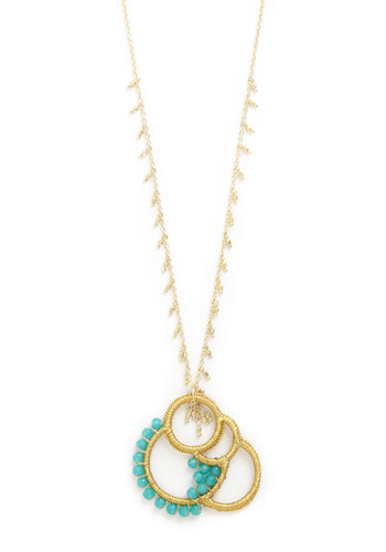 For Many Moons to Come Necklace by Mata Traders - Mint, Gold, Solid, Beads, Better, Gold