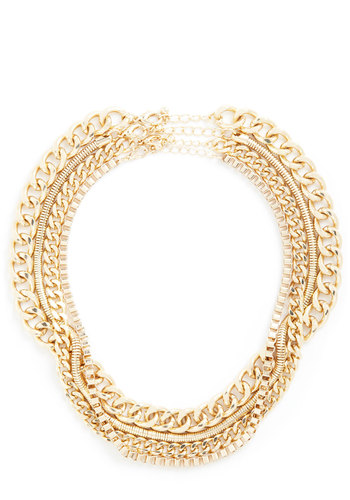 Treasure Doing Business Necklace Set - Gold, Solid, Chain