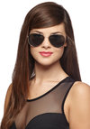 Get an A for Aviator Sunglasses - Black, Gold, Solid, Trim, Good, Beach/Resort, Summer, Nautical, Festival, Top Rated