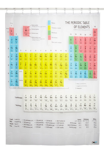 Style is Elemental Shower Curtain - Multi, Scholastic/Collegiate, White, Novelty Print, Better