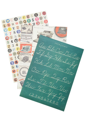Write at Home Print Set - Multi, Scholastic/Collegiate, Novelty Print, Good
