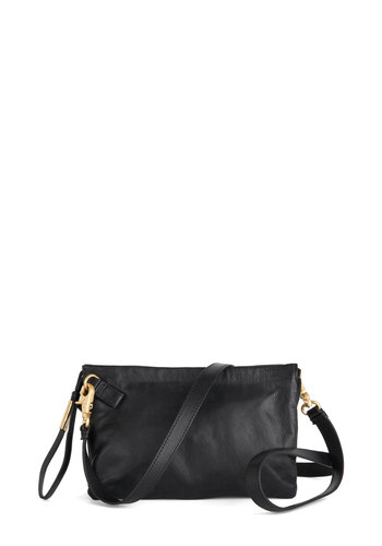 Eternal Sophistication Bag by Foley+Corinna - Black, Gold, Solid, Minimal, Leather, Best, Basic