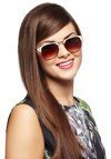 Frap Star Sunglasses - Cream, Brown, Black, Solid, Casual