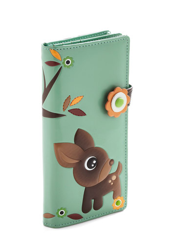 Sunday Branch Wallet - Mint, Multi, Print with Animals, Flower, Folk Art, Owls, Top Rated