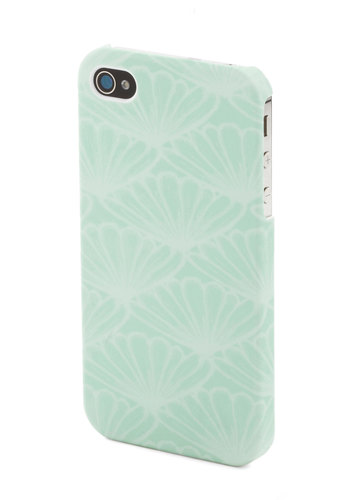 Sending Out an SMS iPhone 4/4S Case - Mint, White, Print, Travel, Pastel