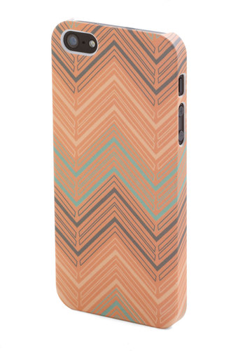 Message After the Peach iPhone 4/4S Case - Chevron, Travel, Orange, Multi, Pastel
