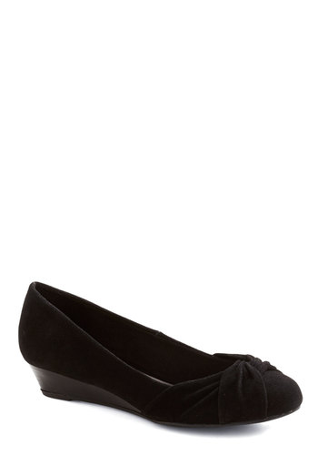 Well Look at Shoe Wedge - Black, Solid, Work, Low, Good, Wedge, Faux Leather, Basic