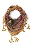 Floral Occasions Scarf - Yellow, Multi, Print, Tassles, Boho, Better, Fall