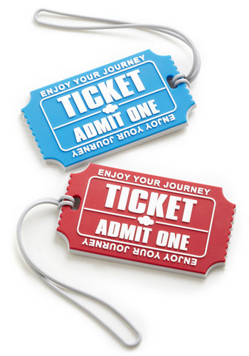 Stub-terranean Adventure Luggage Tags by Present Time - Red, Blue, White, Travel, Good